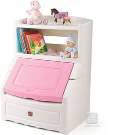 Toy Box with Book Case