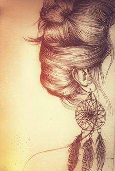 Kleine Traumfänger als Ohrringe... muss ich mir unbedingt mal basteln *.*