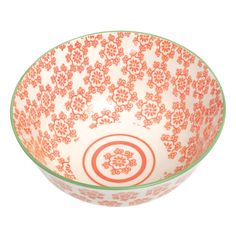 Large Japanese Bowl Poppies | DotComGiftShop