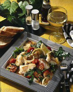 Unser beliebtes Rezept für Fischfilet mit Tomaten & Rucola und mehr als 55.000 weitere kostenlose Rezepte auf LECKER.de.