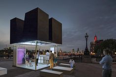 'just a black box' is a piece of unobstructive street furniture which lifts up its skin and transforms into a kiosk for either commercial or public use.