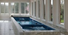 Image result for workout room with small indoor pool and sauna