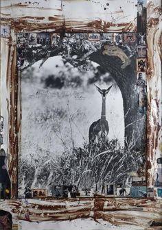 Peter Beard (né en 1938), Hog Ranch, BOX H191, Nairobi, Kenya, East Africa, vers 1960, tirage argentique signé et titré, rehaussé de dessins à l'encre et à l'aquarelle sur l'image et dans les marges par l'artiste, 140 x 190 cm.  Adjugé : 106 250 € Mercredi 31 mai, salle 2 - Drouot-Richelieu.  Yann Le Mouel OVV. Mme Esders.