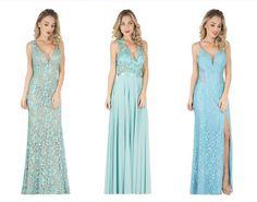 vestido azul claro para madrinha 2016 para casamento dia - Pesquisa Google