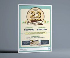 Singapore Sweep Poster, Campaign, Childhood Games, Retro Design, Traditional games, Ticket, Lottery