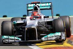 Michael Schumacher (GER) Mercedes AMG F1 W03.  Formula One World Championship, Rd8, European Grand Prix, Race Day, Valencia, Spain, Sunday, 24 June 2012