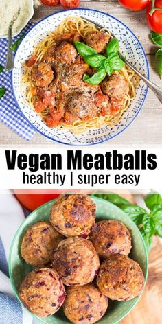 These vegan meatballs are one of my all time favorite vegetarian recipes they re the perfect comfort food and make such a great vegan dinner find more pasta recipes and vegan recipes at veganheaven org vegan meatballs pasta Vegan Dinner Recipes, Veggie Recipes, Whole Food Recipes, Diet Recipes, Healthy Recipes, Plant Based Dinner Recipes, Easy Vegan Dinner, Healthy Meals, Vegetarian Recipes Delicious
