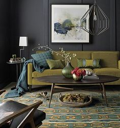New living room grey inspiration coffee tables ideas Living Room Green, Paint Colors For Living Room, New Living Room, Living Room Sofa, Living Room Decor, Apartment Living, Apartment Sofa, Cozy Living, Small Living