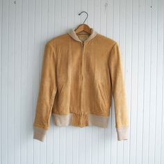 SALE / Vintage 70s Suede Sports Jacket - S