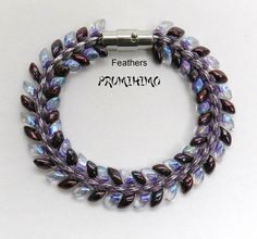 kumihimo Feathers bracelet
