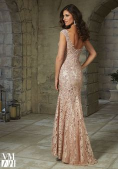 Evening Gown 71215 Beaded Appliques on Lace-Found at Bridal Isle - Loomis, NE - 308.876.2583