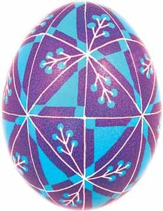 Pysanka decorated egg made by Ukranian shop.. what a gorgeous design!