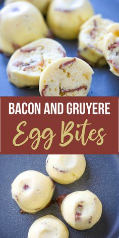 These Instant Pot Sous Bacon and Gruyere Egg Bites a quick and easy make ahead breakfast! AND they take no time at all to make! Heres how to make your very own Starbucks Copy Cat Egg White Bites - Sous Vide Egg Bites - at home WITH bacon! Starbucks Egg White Bites, Starbucks Sous Vide Eggs, Egg Bites Recipe, Breakfast Bites, Breakfast Recipes, Instant Pot Dinner Recipes, Cat Egg, Cooker Recipes, Gourmet