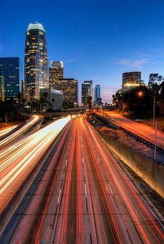 Quiet L.A. freeway