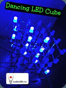 Dancing LED Cube Arduino, Cube, Dancing, Technology, Blog, Tech, Dance, Tecnologia, Blogging