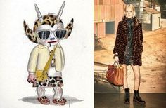 """Gary Baseman's Wild Beast Print - Vevers and Baseman collaborated on a series of cartoonish characters and prints for Spring 2015, Vevers's second collection for the house, which birthed a dripping paint leopard print. """"Gary's signature paint marks became something really recognizable, and, actually, there's hardly a season that goes by now that we don't incorporate the Wild Beast,"""" says Vevers. """"It's a little bit of everything from Kurt Cobain to Patricia Arquette's character Alabama…"""