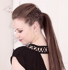 Hair + Makeup | Mowhawk Quiff Ponytail