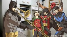 When Alfred isn't home <-- even better than the one with just dick and dami