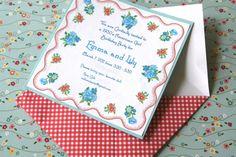 DIY Invitations for Lorelai's American Girl Birthday Tea Party