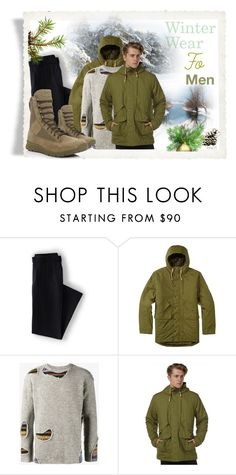 """Winter Wear for Men#2"" by ilona2010 ❤ liked on Polyvore featuring Lands' End, Burton, Maison Mihara Yasuhiro, Danner, men's fashion and menswear"
