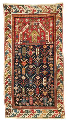Akstafa Prayer Rug - East Caucasus, Shirvan, Early 19th century, 146 x 77 cm