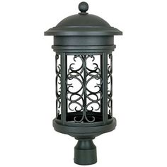 Designers Fountain Ellington Mediterranean Pantina Traditional Light Post Lantern at Lowe's. Chambery outdoor dark sky post lamps are the latest in outdoor lighting design. The fixture is designed to focus the light downward where it is needed and Outdoor Post Lights, Outdoor Lighting, Outdoor Fun, Lamp Post Lights, Lantern Set, Light Pollution, Thing 1, Traditional Lighting, Light Bulb Bases