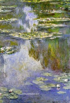 Claude Monet Water Lilies, 1907 Painting for sale, painting