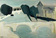 Nicolas De STAEL - Abstract Art - 'La Seine à Paris' (1954)
