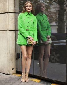 Fashion Week Diary: Look 20 from Olivia Palermo; love her and her style Olivia Palermo Outfit, Estilo Olivia Palermo, Olivia Palermo Lookbook, London Fashion Weeks, Fashion Week Paris, Milan Fashion, Spring Street Style, Spring Trends, Classy And Fabulous