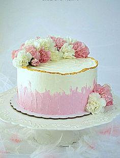 Spring Cake, Cake Designs, Vanilla Cake, Cake Recipes, Cake Decorating, Food And Drink, Impreza, Decorations, Foods