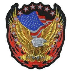 Hot Leathers Reflective Eagle Patch (12″ Height) http://bikeraa.com/hot-leathers-reflective-eagle-patch-12-height/