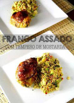 SOBRECOXA ASSADA -- receita super simples, suculenta e deliciosa de frango assado para o dia a dia com tempero de mostarda   temperando.com #receitafacil #frangoassado