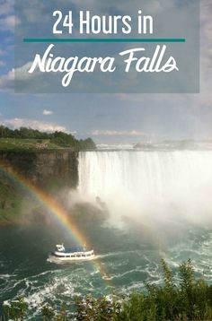 24 Hours in Niagara Falls with kids, including where to stay, what to do and where to eat.