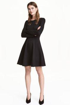 Korte jurk - Zwart - DAMES | H&M NL 1