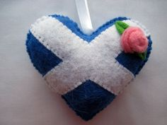 Felt SCOTLAND Flag Love Heart Wedding Diamond Jubilee Olympics hanging ornament decoration Scottish St. Andrew's Cross
