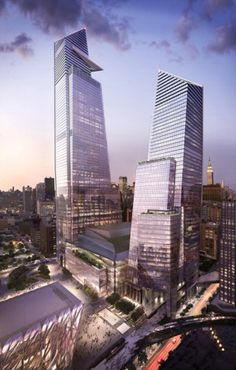 10 And 30 Hudson Yards, both by KPF