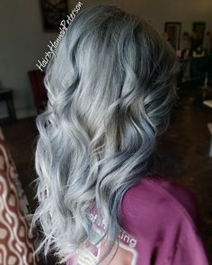 """41 Likes, 2 Comments - Hannah Hansen (@hairbyhannahpeterson) on Instagram: """"Silver hair achieved by @joico #intensity Styled out with #hottoolscurlingiron"""""""