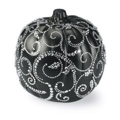 Not a fan of gory #Halloween #decor and want something pretty and elegant this season? Try decorating your #pumpkin with bold colors and/or pretty rhinestones!