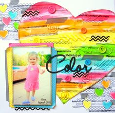 Shes Full of Color {Love My Tapes} - Scrapbook.com