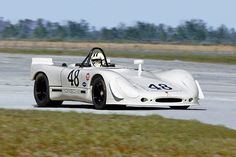 The #48 Porsche 908/02 driven by Steve McQueen and Peter Revson to a second place finish in the 1970 12 Hours of Sebring. Revson probably drove 8 of the 12 hours because McQueen had a foot in a cast from an accident suffered weeks earlier.  Steve McQueen is driving in this photo.