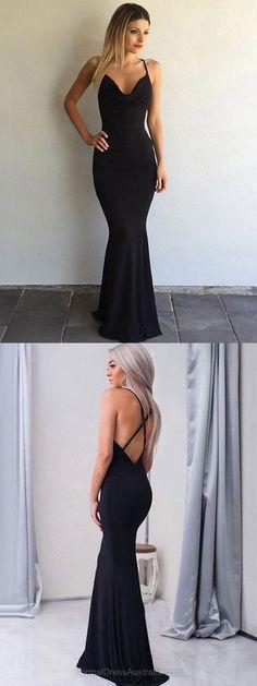 Long Formal Dresses Black, Mermaid Formal Dress, V-neck Party Dresses, Floor-length Evening Dresses