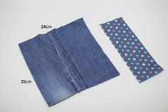 How to make zippered denim pencil case DIY step by step tutorial instruction.                                                              ...