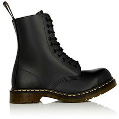 Dr Martens Men's 10-Eye Leather Boots ($160) ❤ liked on Polyvore featuring men's fashion, men's shoes, men's boots, black, mens leather boots, mens black lace up shoes, mens black leather boots, mens lace up boots and mens round toe shoes
