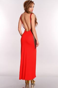Step out of the ordinary in this sexy maxi dress! This is the hottest trend of the season just pair with anti gravity wedges and gold accessories for the night look. This style features a mesh cut out detail, slit front, sleeveless, deep V back, long length dress, and fitted for that extra sexiness. 44% Polyester 23% Nylon 30% Rayon 3% Spandex