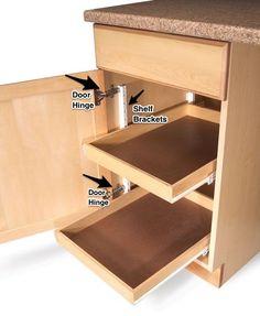Cabinet Pullout Shelves