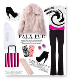 """""""Cozy Chic In Faux Fur"""" by atelier-briella ❤ liked on Polyvore featuring Nicole, La Femme, Paige Denim, Chloé, Portolano, BillyTheTree, cute, cozychic and fauxfurcoats"""