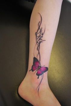 Butterfly Tattoos | InkDoneRight  The most basic reason that someone would choose to get a butterfly tattoo is simply because they are beautiful and mysterious creatures! They can only...