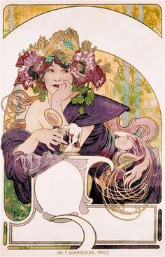 Fotogalerie: K výstavě Alfons Mucha Moravské galerie Brno - Chocolat Ideál (1897)