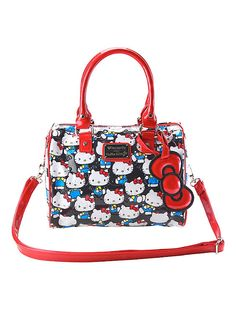 33ffdd7a9820 Loungefly Hello Kitty Classic Patent Barrel Bag