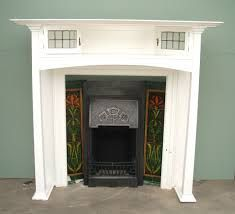 Charles Graham Architectural Antiques and Fireplaces - Original Antique Arts and Crafts wooden fire surround - ref 1930s Fireplace, Edwardian Fireplace, Art Deco Fireplace, Fireplace Tile Surround, Fireplace Surrounds, Fireplace Ideas, Wooden Fire Surrounds, House Extension Design, 1930s House